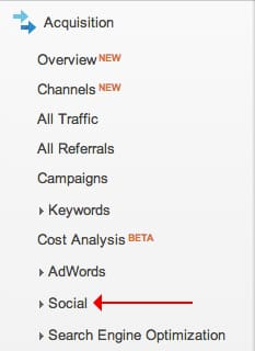 Social data can be found in Google Analytics