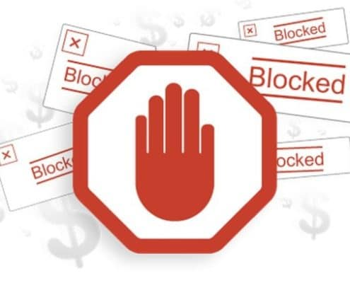 Ad blocking information for marketers