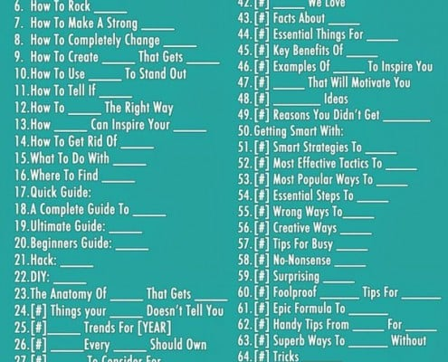 Some great blog post title templates